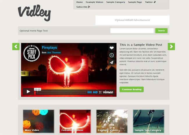 Vidley WordPress Theme
