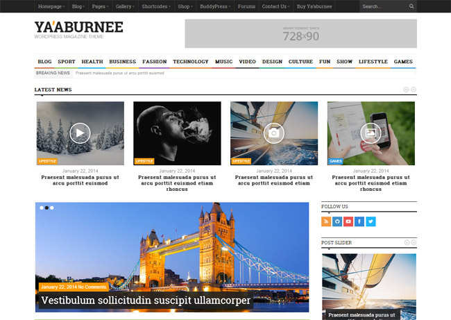 Ya'aburnee WordPress Theme