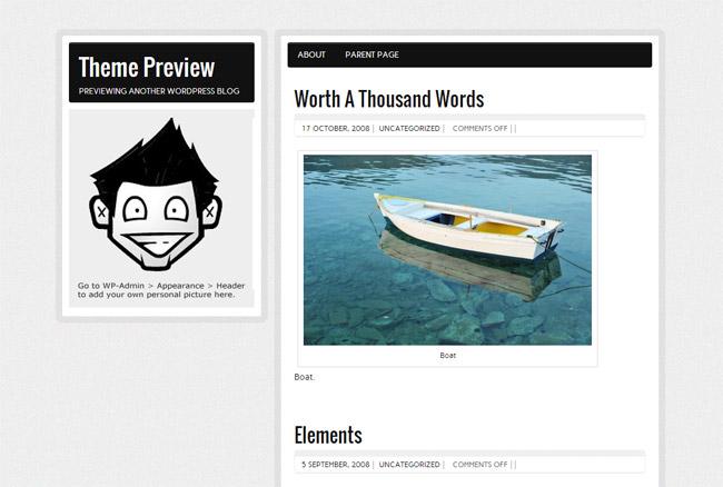 zeeBizzCard WordPress Theme