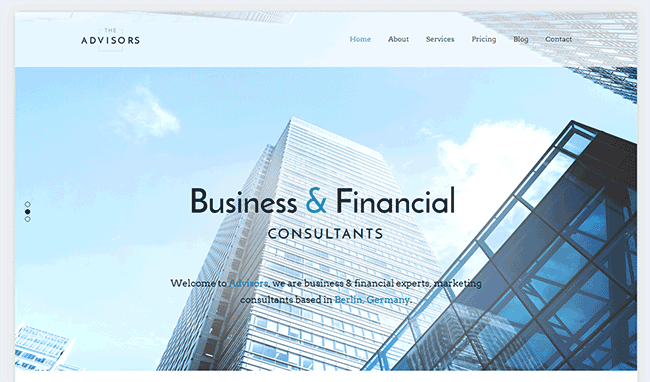 The Advisors WordPress Theme