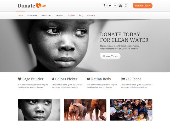 DonateNow WordPress Theme