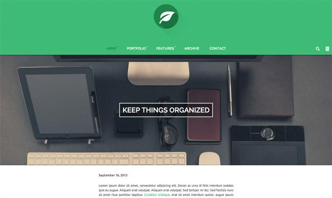 Leaf  Personal Blog & Portfolio WordPress Theme
