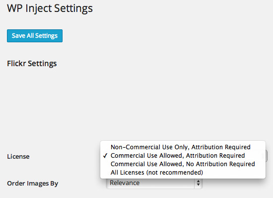 WP Inject Settings