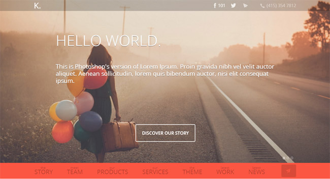 K. WordPress Theme