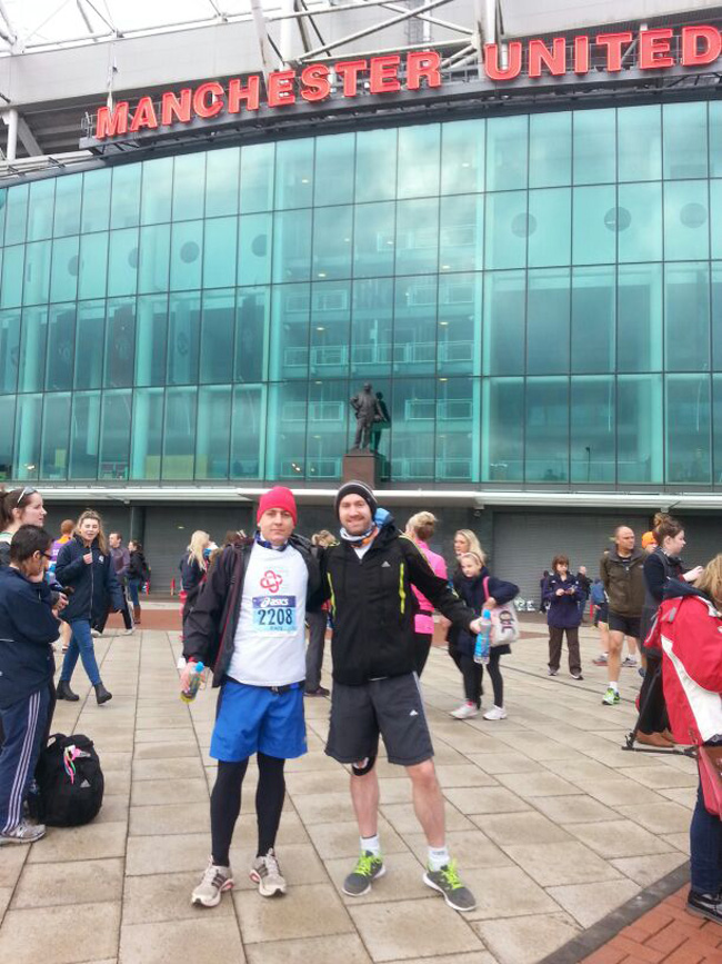 Outside of Old Trafford with Barry