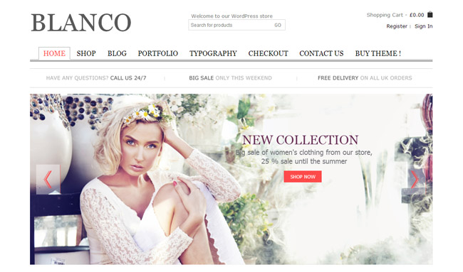 Blanco WordPress Theme