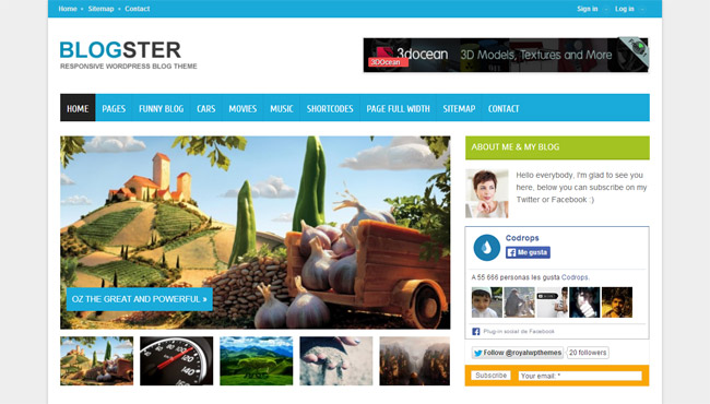 Blogster WordPress Theme