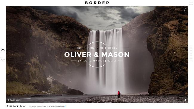 Border WordPress Theme