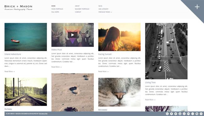 Brick + Mason WordPress Theme