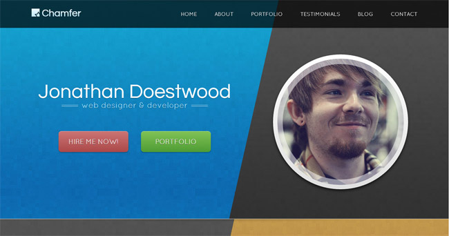 Chamfer WordPress Theme