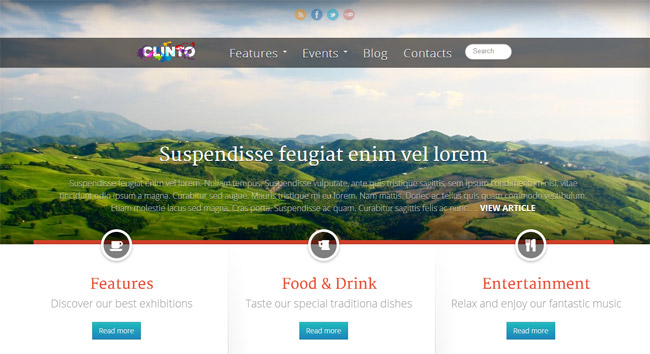 Clinto WordPress Theme