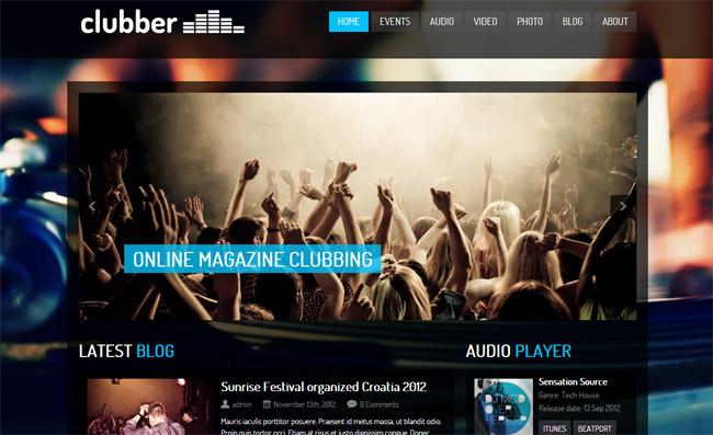 Clubber WordPress Theme
