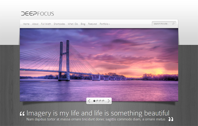 DeepFocus WordPress Theme