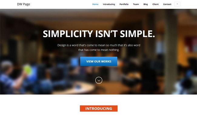 DW Page WordPress Theme
