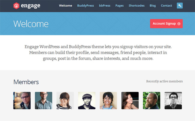 Engage WordPress Theme