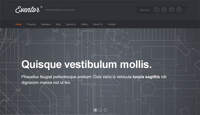 Eventor WordPress Theme