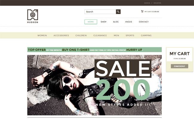 Hudson WordPress Theme
