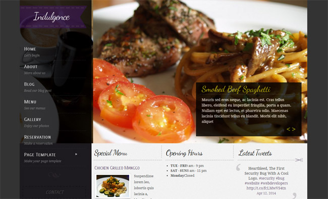 Indulgence WordPress Theme