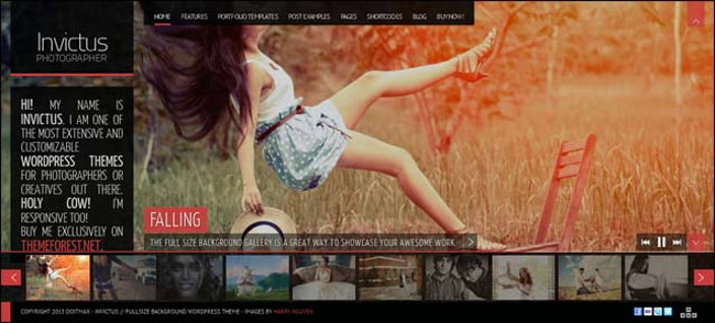 Invictus WordPress Theme