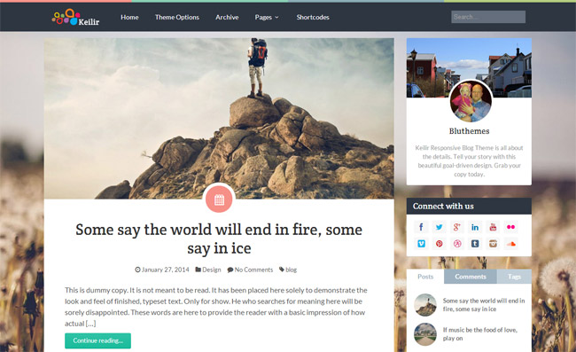 Keilir WordPress Theme