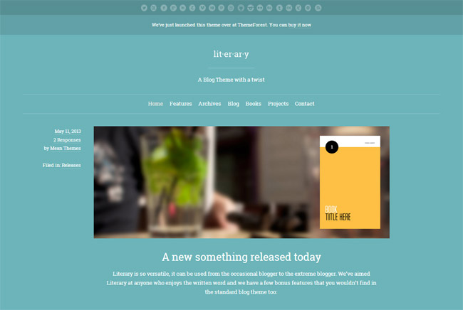 Literary WordPress Theme