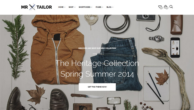 Mr. Tailor  WordPress Theme