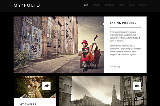 My Folio WordPress Theme