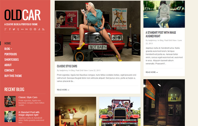 OldCar WordPress Theme