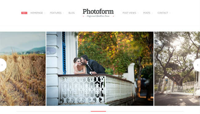 Photoform WordPress Theme