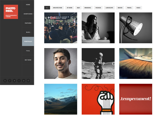 Photoreel WordPress Theme