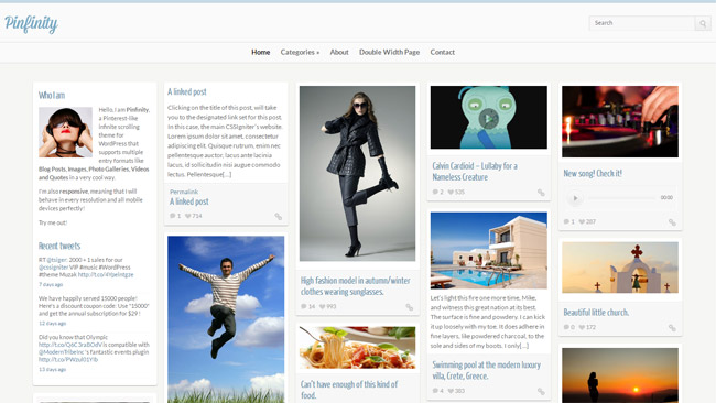 Pinfinity WordPress Theme