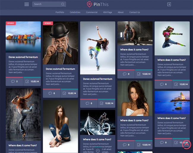 PinThis WordPress Theme