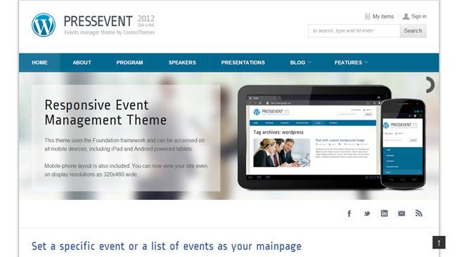 PressEvent WordPress Theme