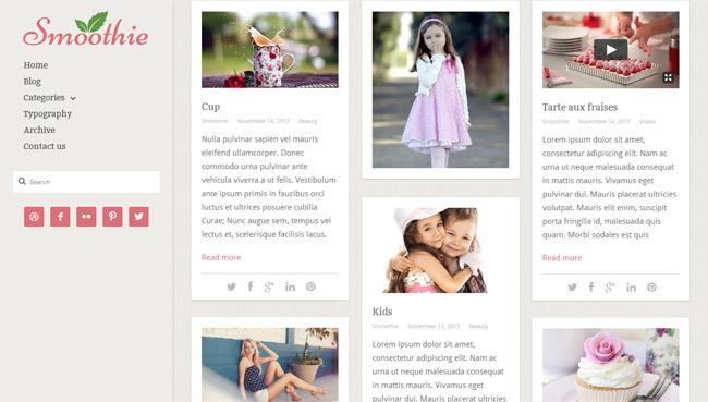 Smoothie WordPress Theme