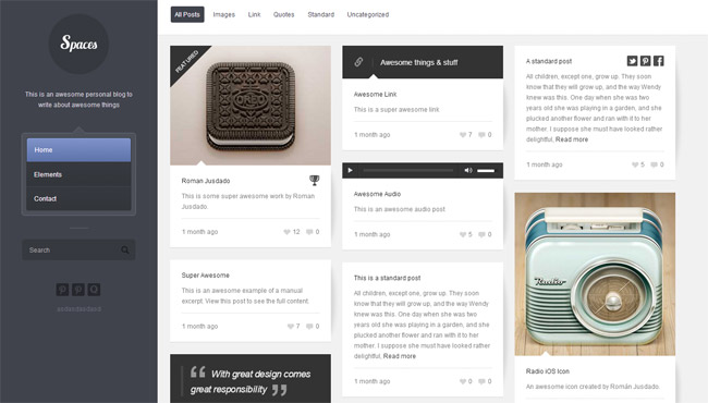 Spaces WordPress Theme