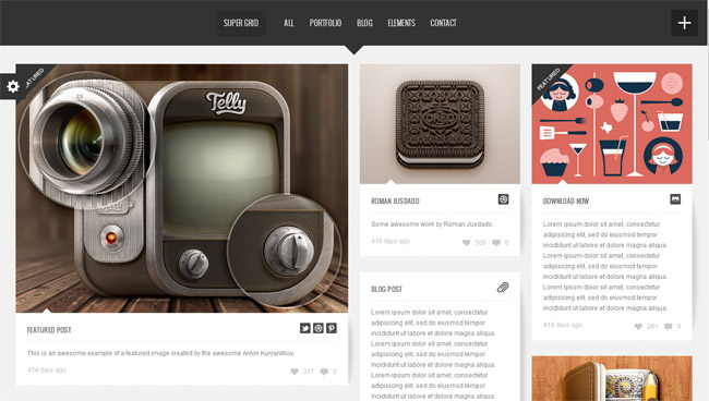 Super Grid WordPress Theme