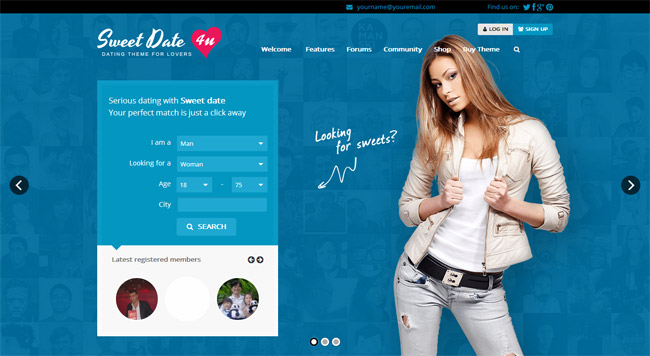 Sweet Date WordPress Theme