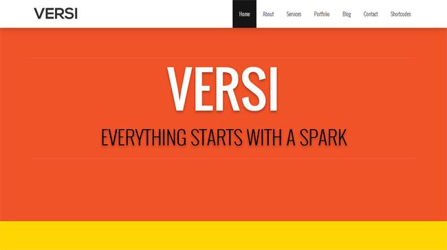 Versi WordPress Theme