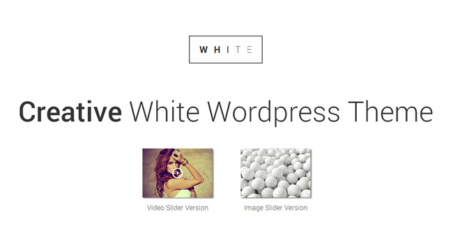 WHITE WordPress Theme