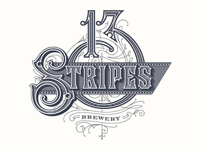 13 Stripes Brewery Logo