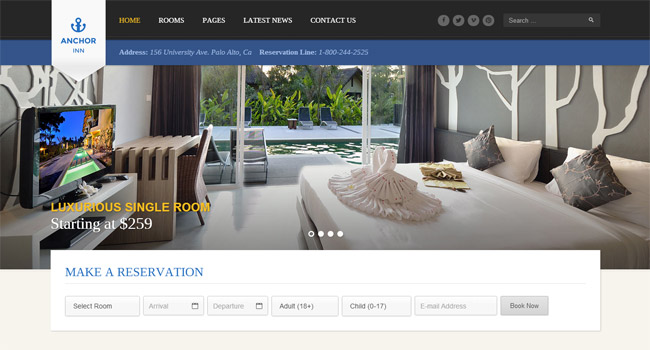 Anchor Inn WordPress Theme