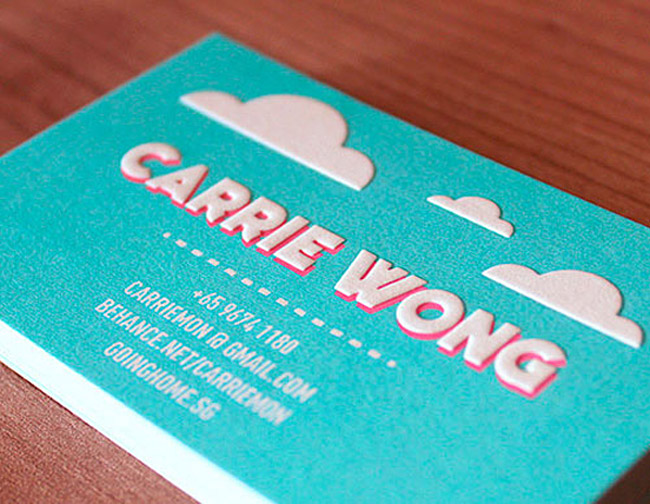 Carrie Wong Business Card