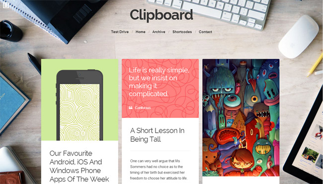 Clipboard WordPress Theme