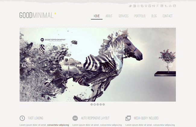 Good Minimal WordPress Theme