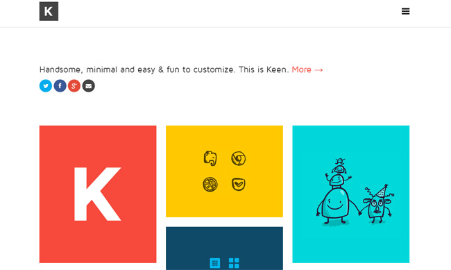 Keen WordPress Theme