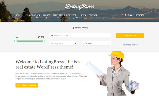 ListingPress WordPress Theme