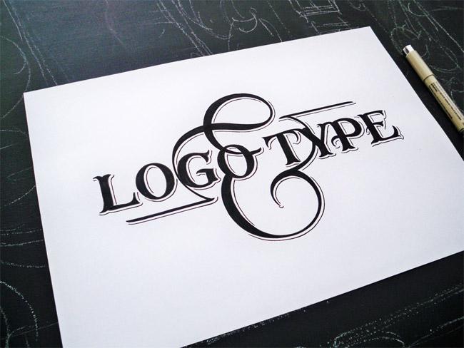 Logo Type Handlettering