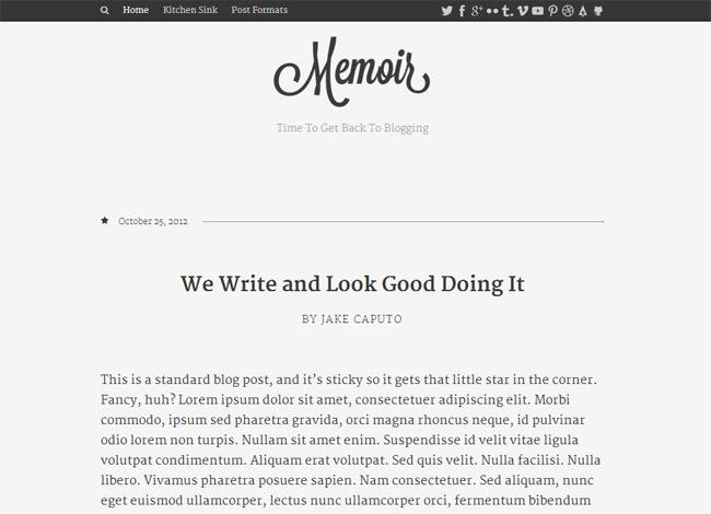 Memoir WordPress Theme