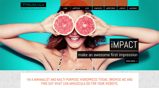 Minuscula WordPress Theme