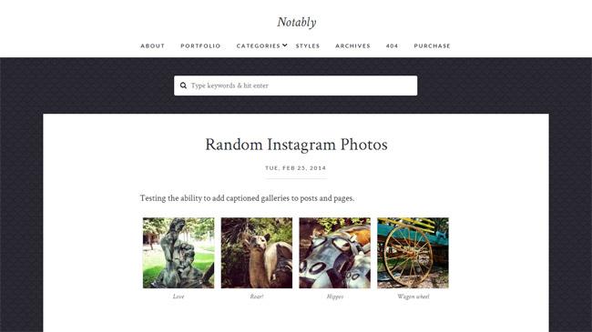 Notably WordPress Theme